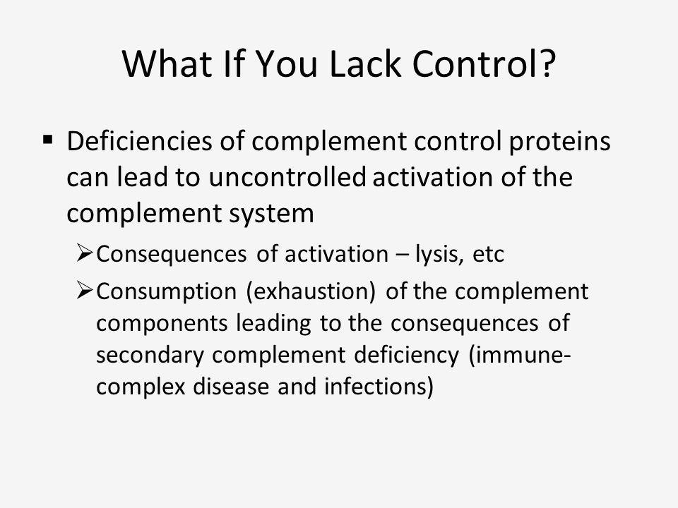 What If You Lack Control