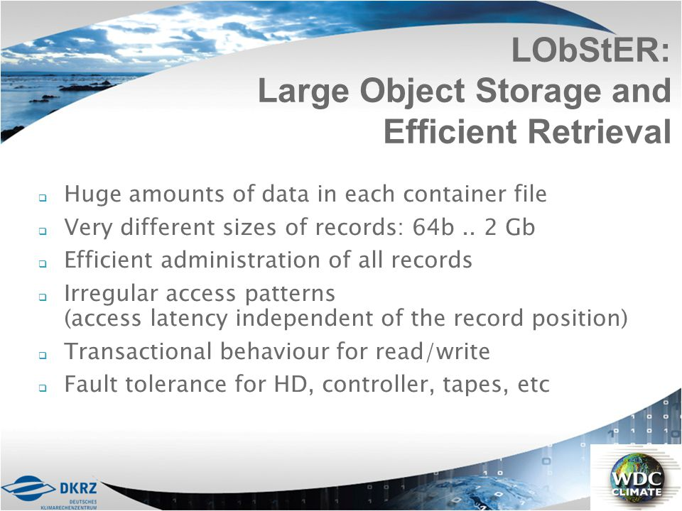 LObStER: Large Object Storage and Efficient Retrieval