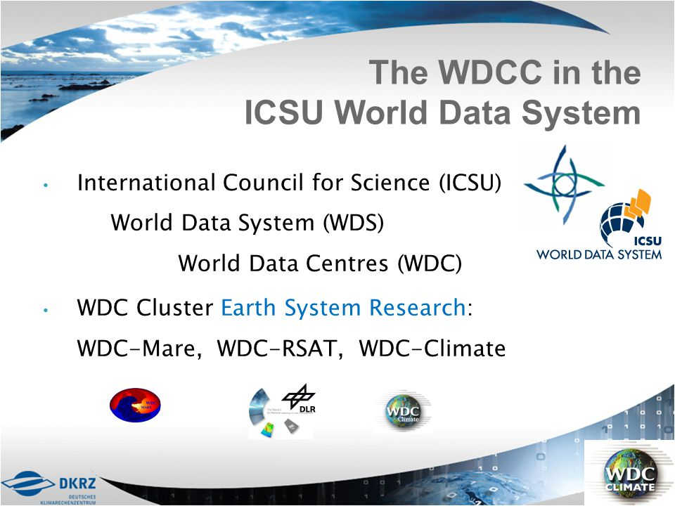 The WDCC in the ICSU World Data System