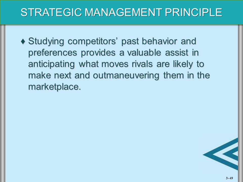 Studying competitors' past behavior and preferences provides a valuable assist in anticipating what moves rivals are likely to make next and outmaneuvering them in the marketplace.