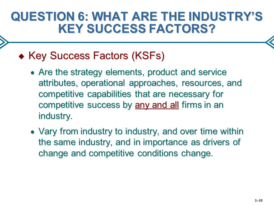 6 key success factors of the Summary analysis a summary of key findings of the literature on project success criteria and success factors is shown in table 45 on a closer examination, it is apparent that some of the success criteria and success factors are closely linked to the dimensions of project quality.