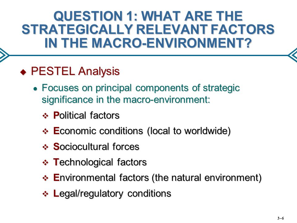 natural factors of macro environment The above macro environment analytical chart sourced from pricewaterhouse marketers ultimately have to ensure consumption of goods and services in.