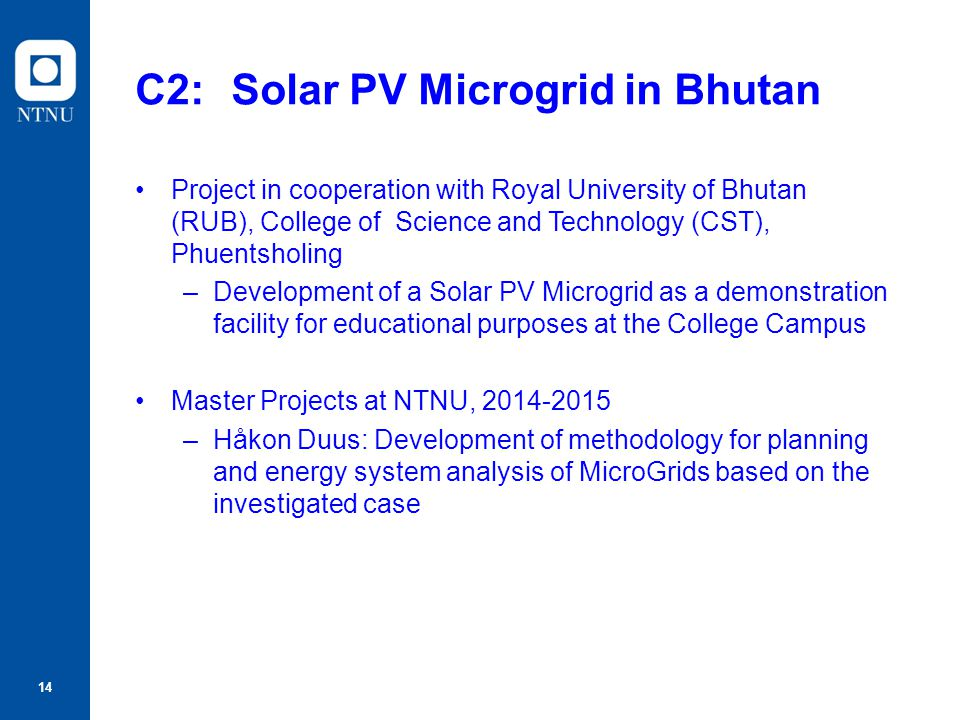 C2: Solar PV Microgrid in Bhutan