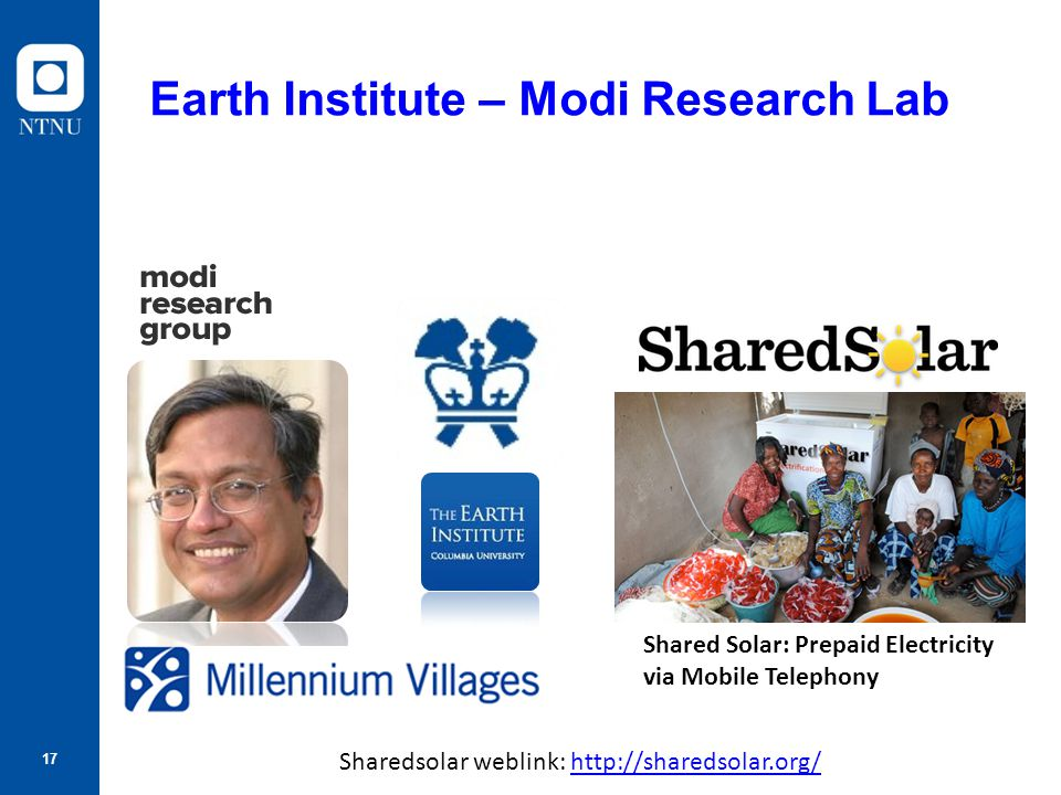 Earth Institute – Modi Research Lab