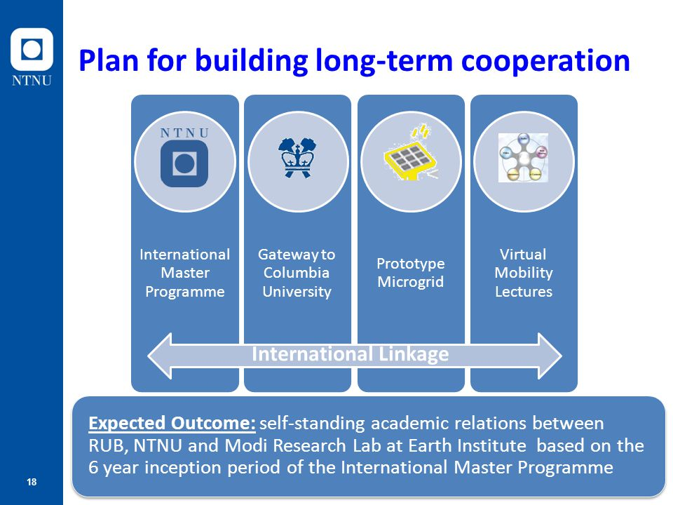 Plan for building long-term cooperation