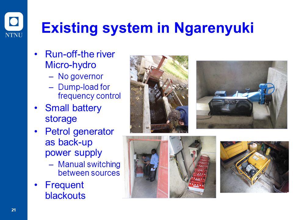 Existing system in Ngarenyuki