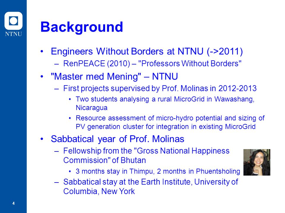 Background Engineers Without Borders at NTNU (->2011)