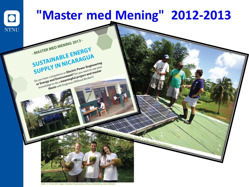 Master med Mening 2012-2013