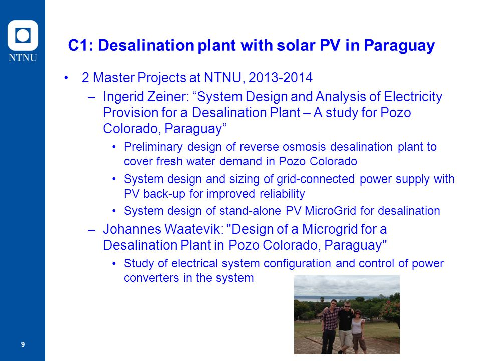 C1: Desalination plant with solar PV in Paraguay