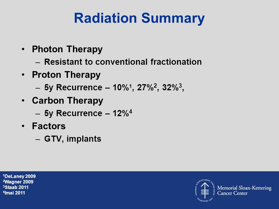 Radiation Summary Photon Therapy Proton Therapy Carbon Therapy Factors