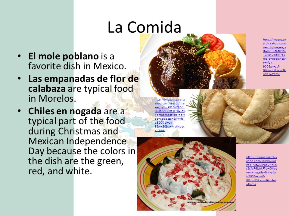 La Comida El mole poblano is a favorite dish in Mexico.