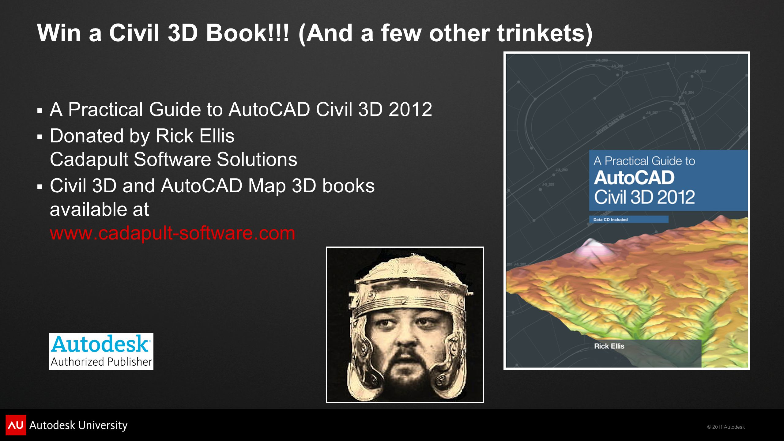 Win a Civil 3D Book!!! (And a few other trinkets)