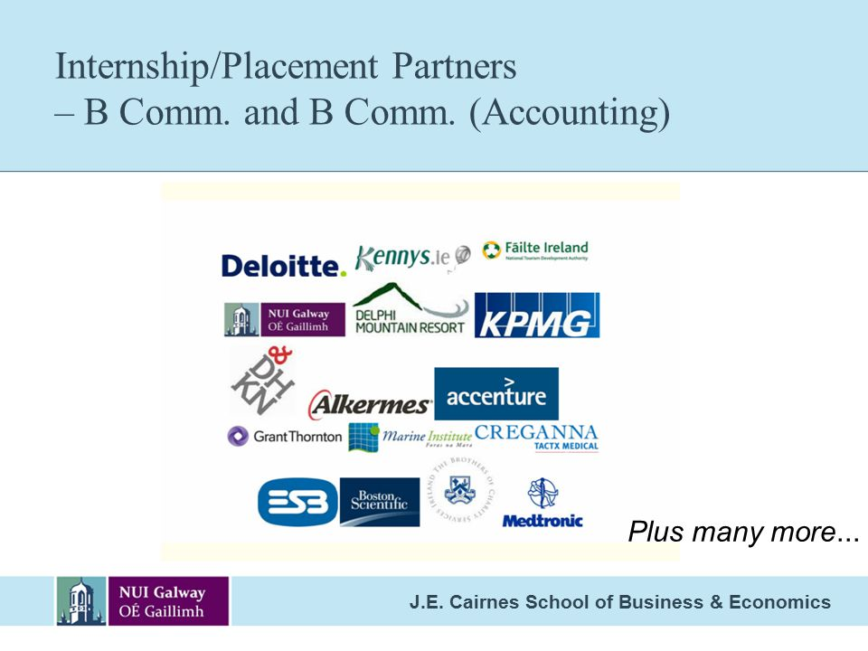 Internship/Placement Partners – B Comm. and B Comm. (Accounting)