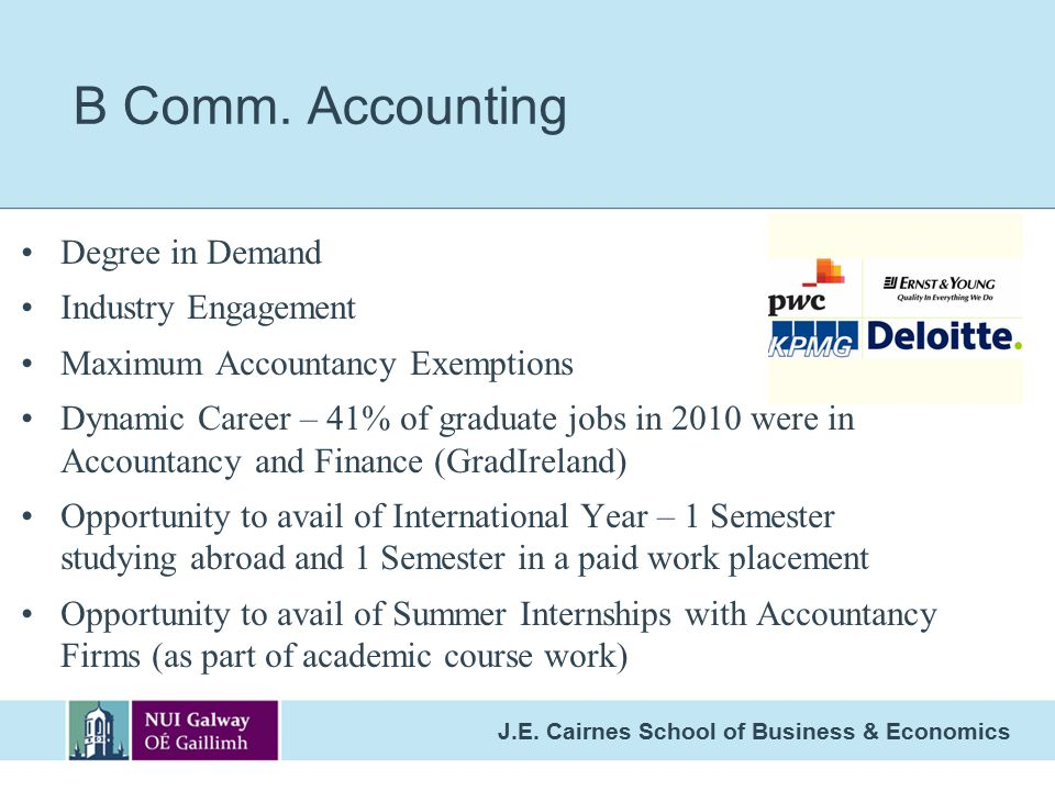B Comm. Accounting Degree in Demand Industry Engagement