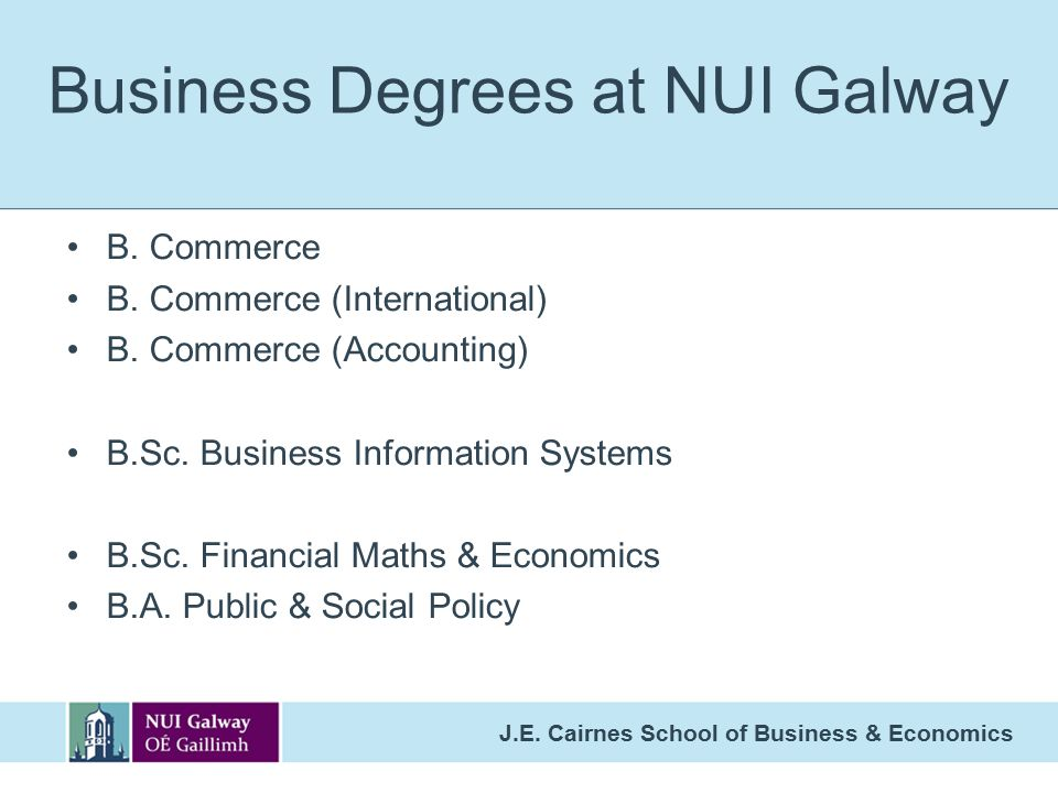 Business Degrees at NUI Galway