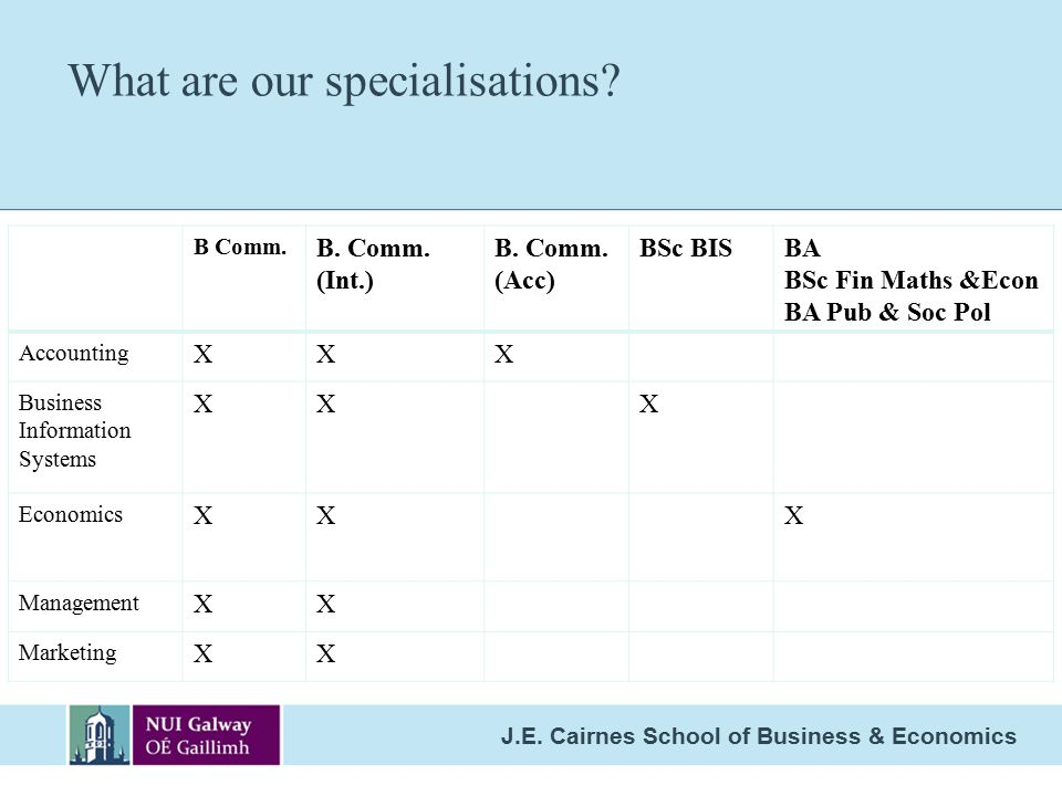 What are our specialisations