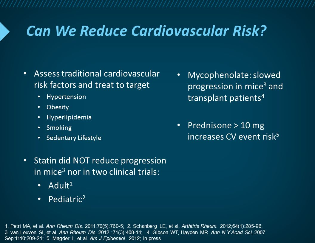 Can We Reduce Cardiovascular Risk
