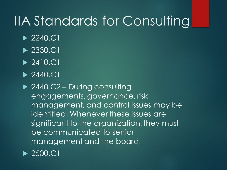 IIA Standards for Consulting