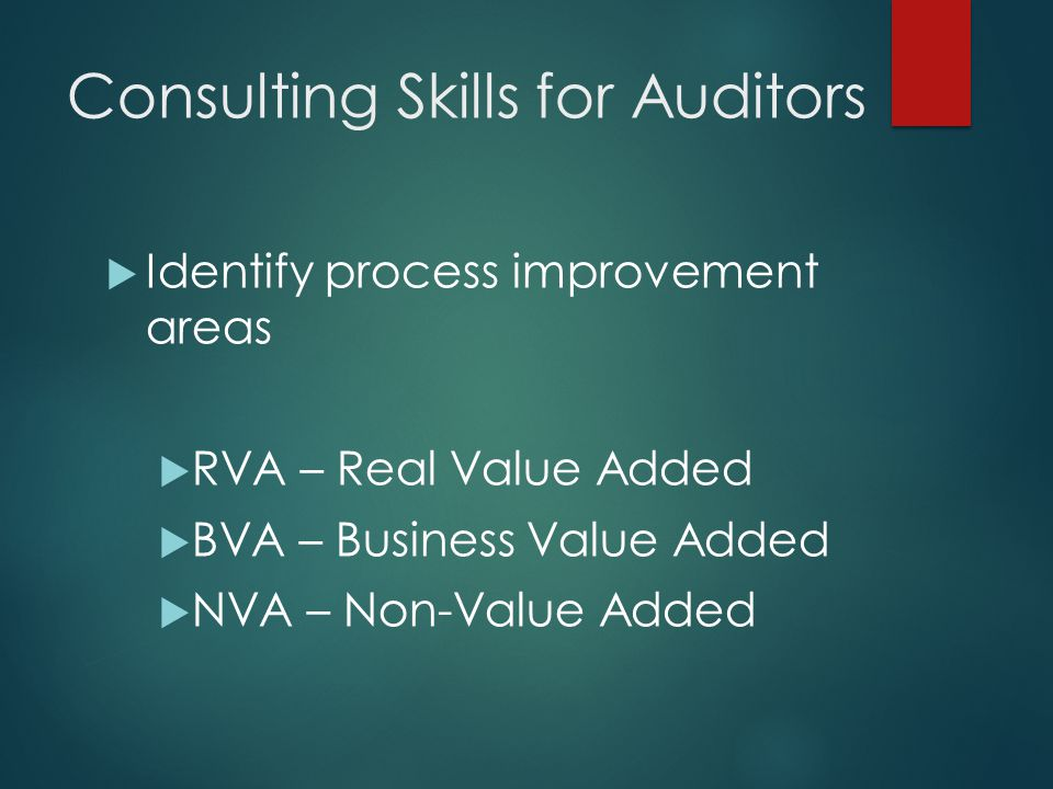 Consulting Skills for Auditors