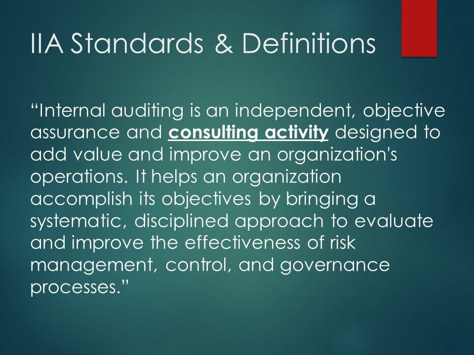 IIA Standards & Definitions