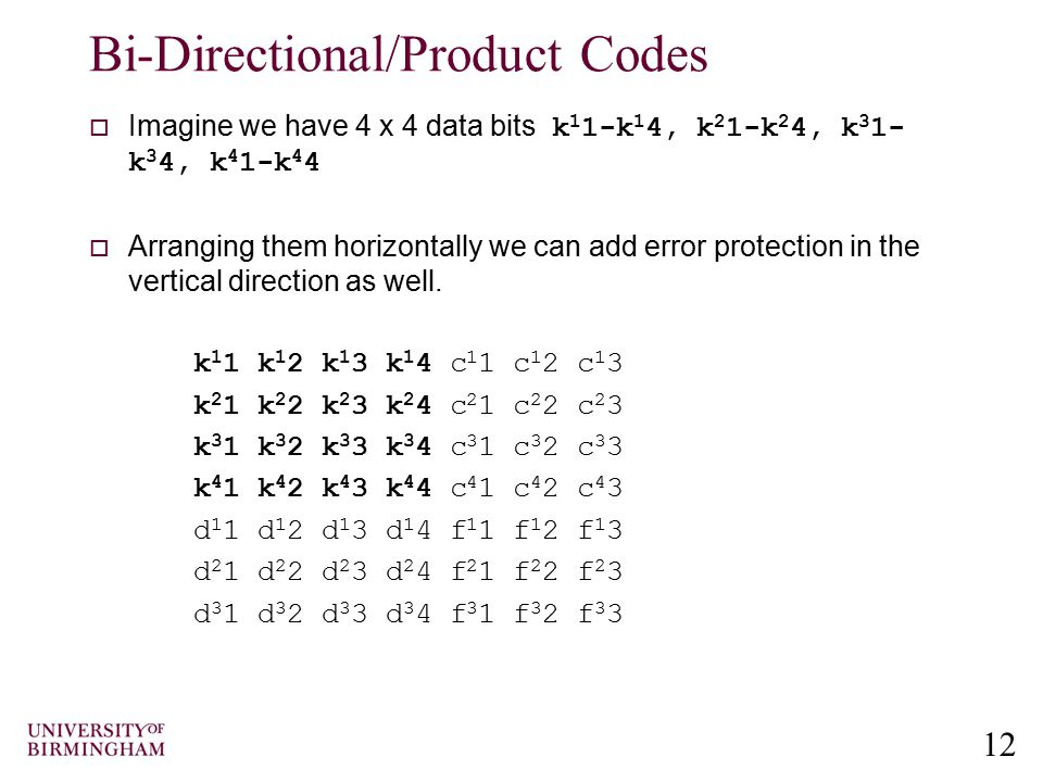 Bi-Directional/Product Codes
