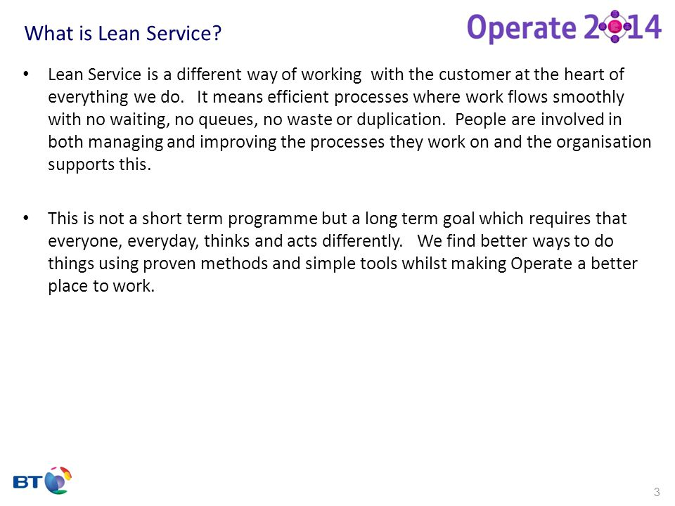 What is Lean Service