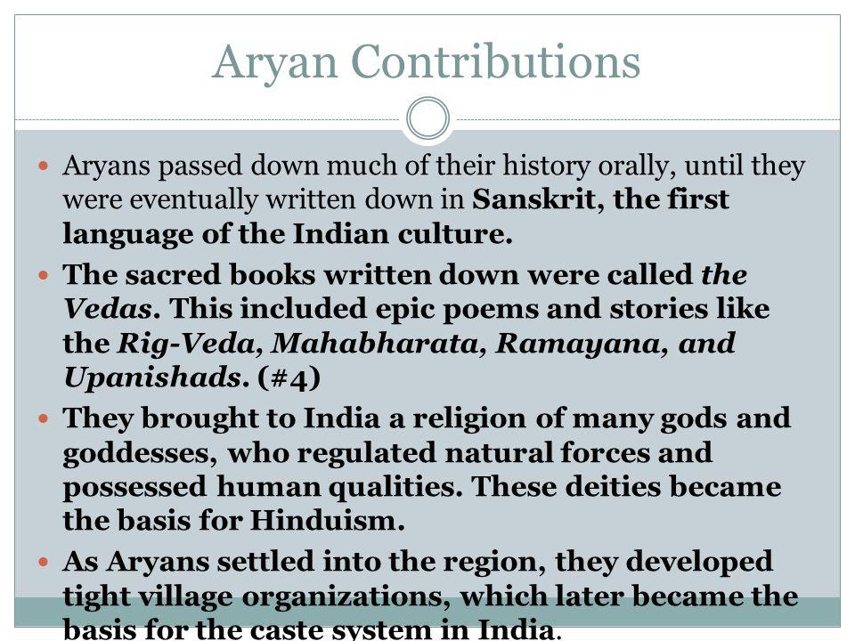Aryan Contributions