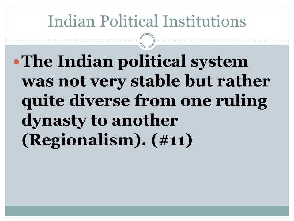 Indian Political Institutions