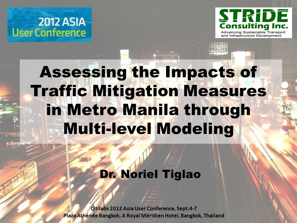 Assessing the Impacts of Traffic Mitigation Measures in Metro Manila through Multi-level Modeling