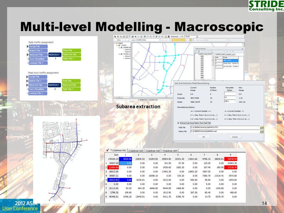 Multi-level Modelling - Macroscopic