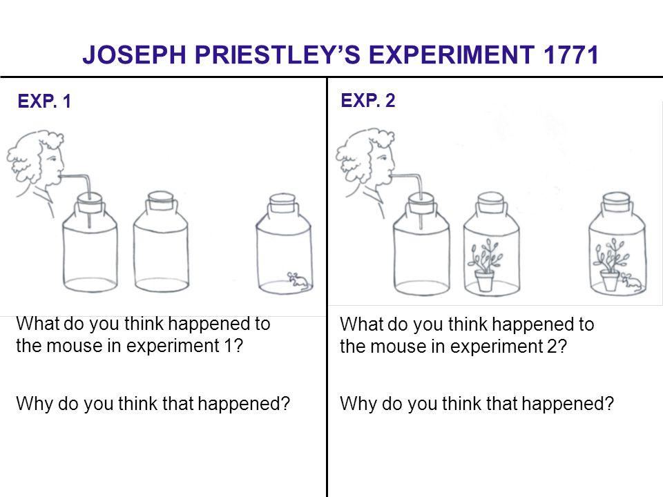 JOSEPH PRIESTLEY'S EXPERIMENT 1771