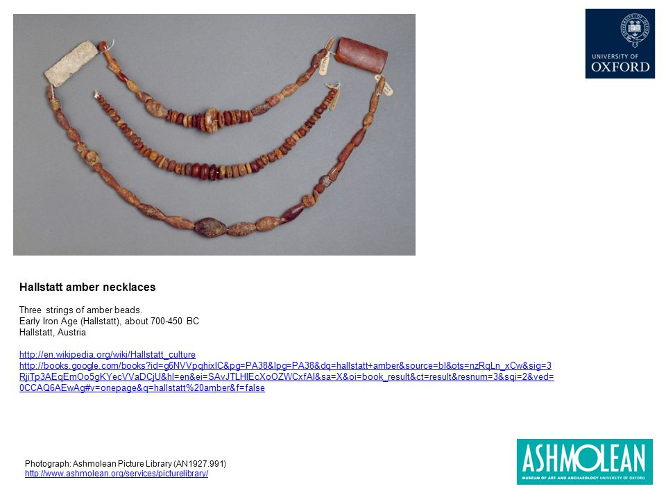 Hallstatt amber necklaces