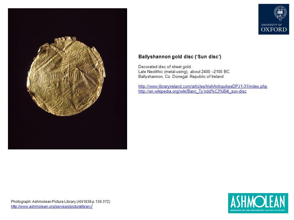 Ballyshannon gold disc ('Sun disc')