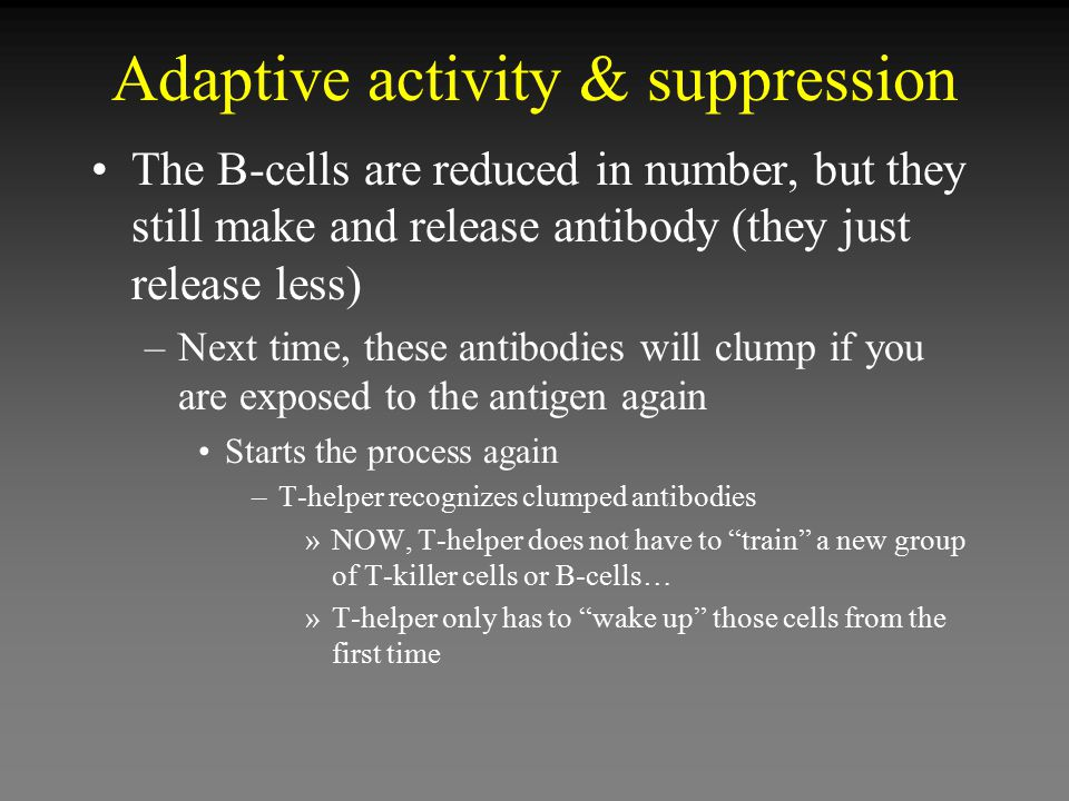 Adaptive activity & suppression