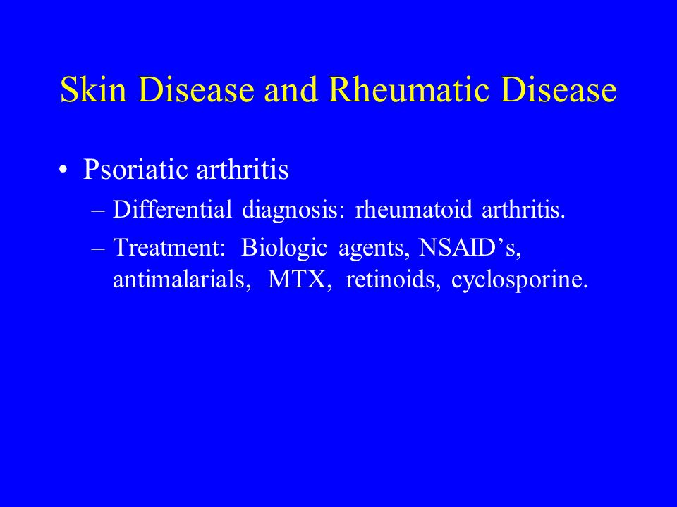 Skin Disease and Rheumatic Disease