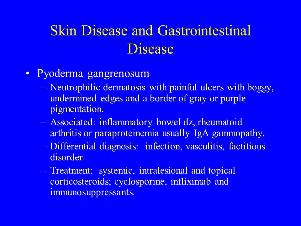 Skin Disease and Gastrointestinal Disease