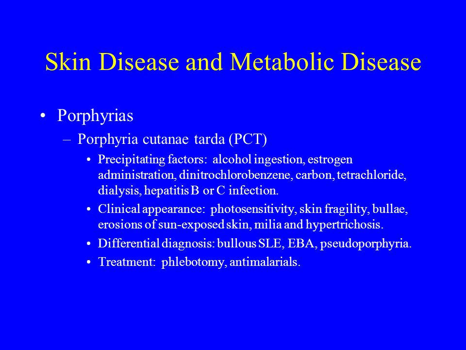 Skin Disease and Metabolic Disease