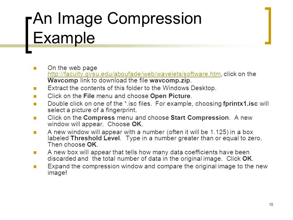 An Image Compression Example