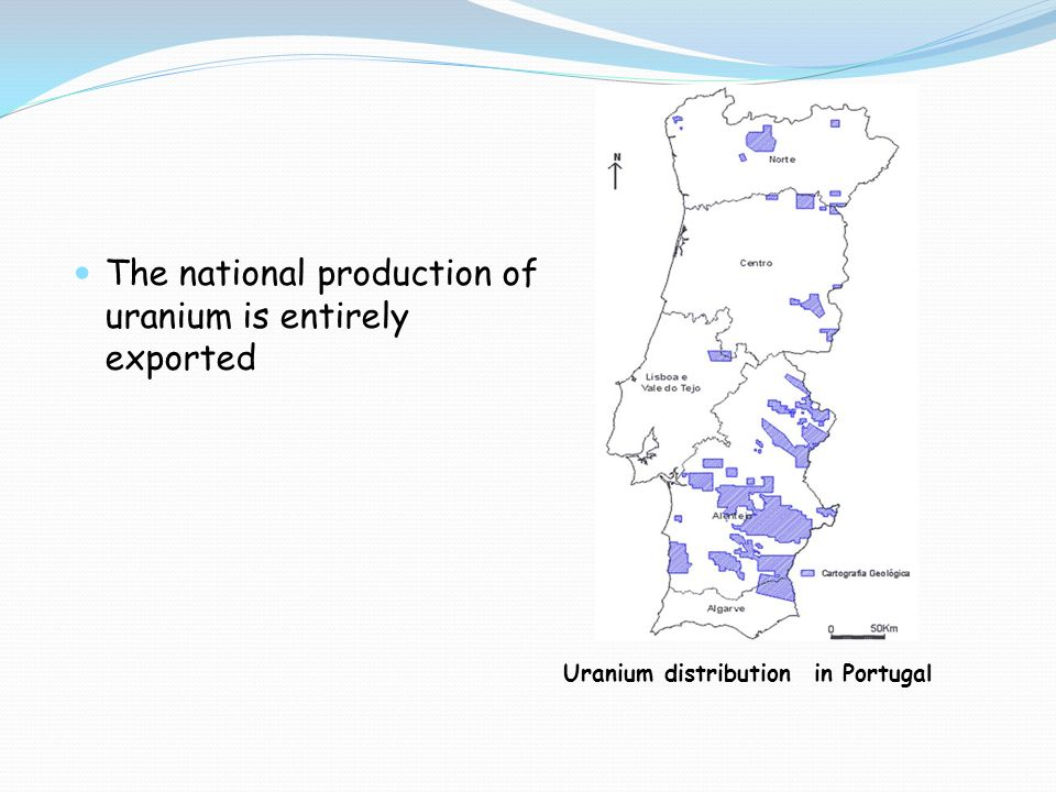 The national production of uranium is entirely exported