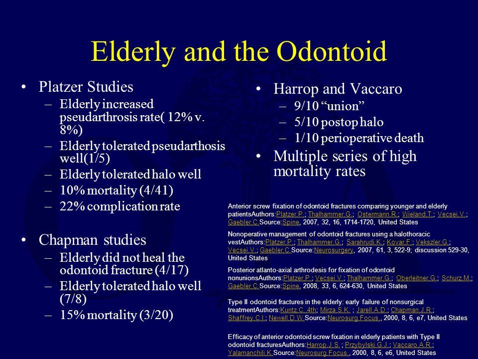 Elderly and the Odontoid