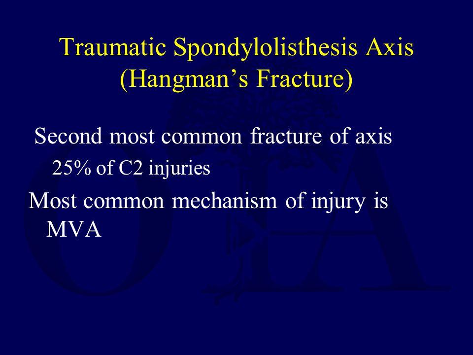 Traumatic Spondylolisthesis Axis (Hangman's Fracture)