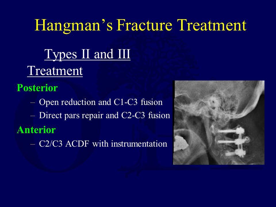 Hangman's Fracture Treatment