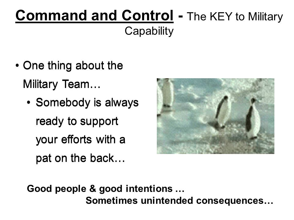 Command and Control - The KEY to Military Capability
