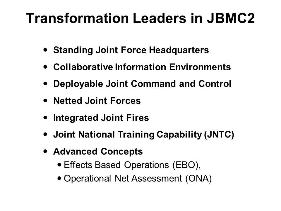 Transformation Leaders in JBMC2