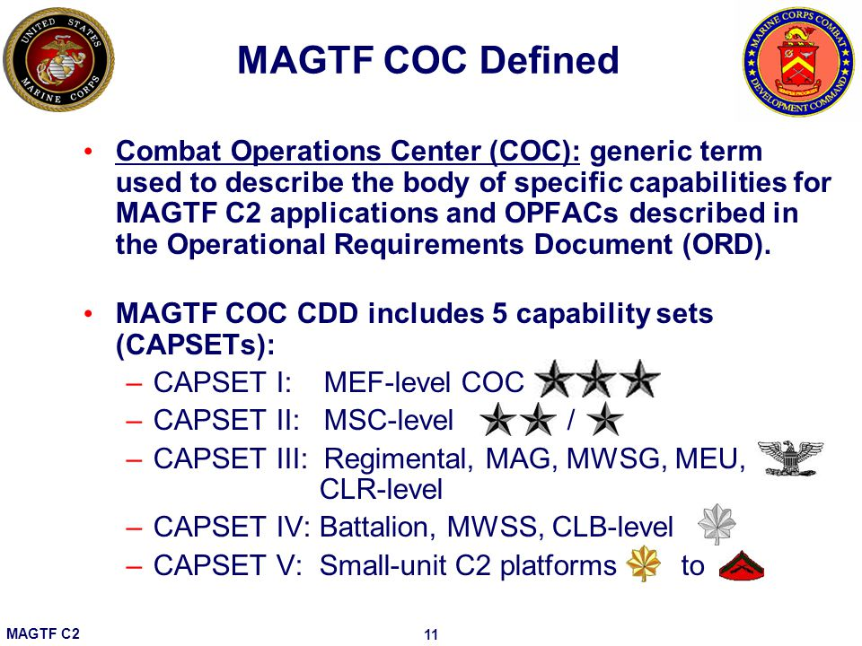MAGTF COC Defined