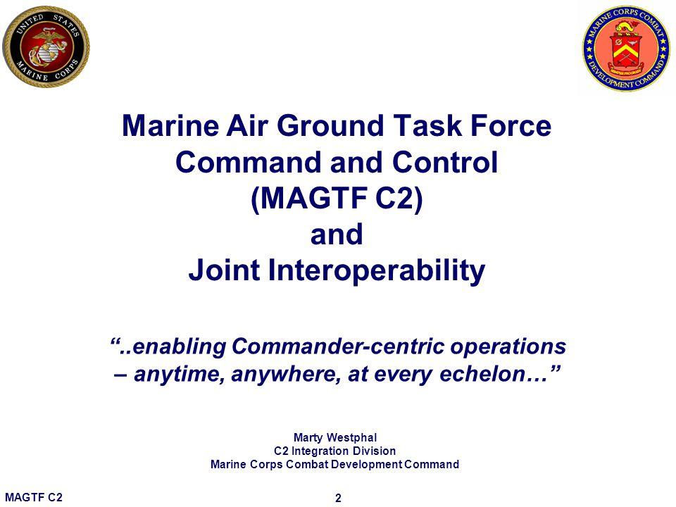C2 Integration Division Marine Corps Combat Development Command