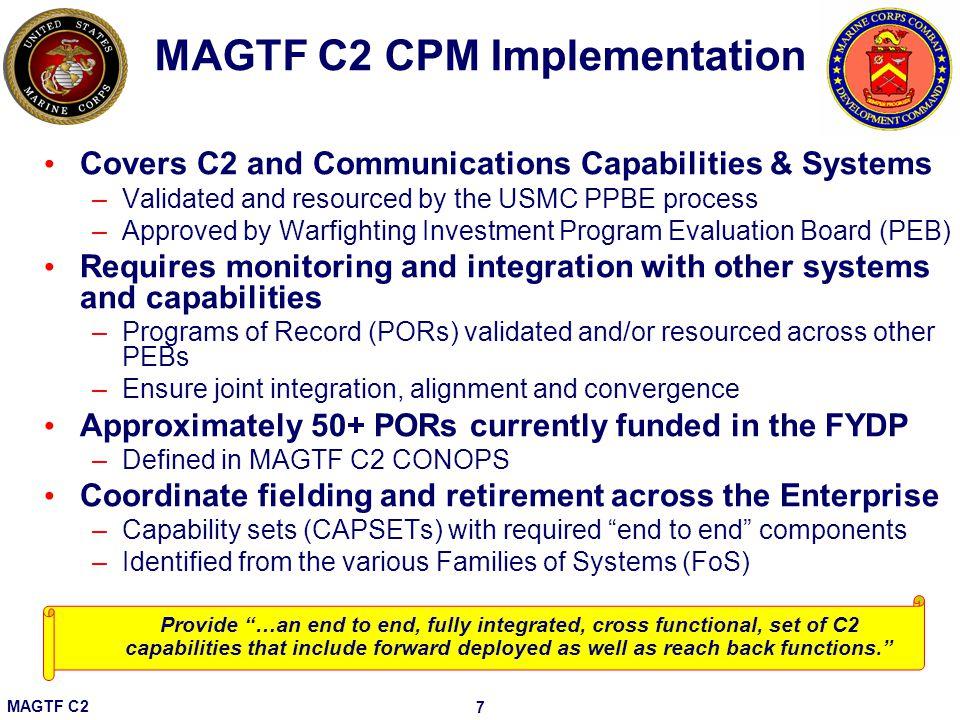 MAGTF C2 CPM Implementation