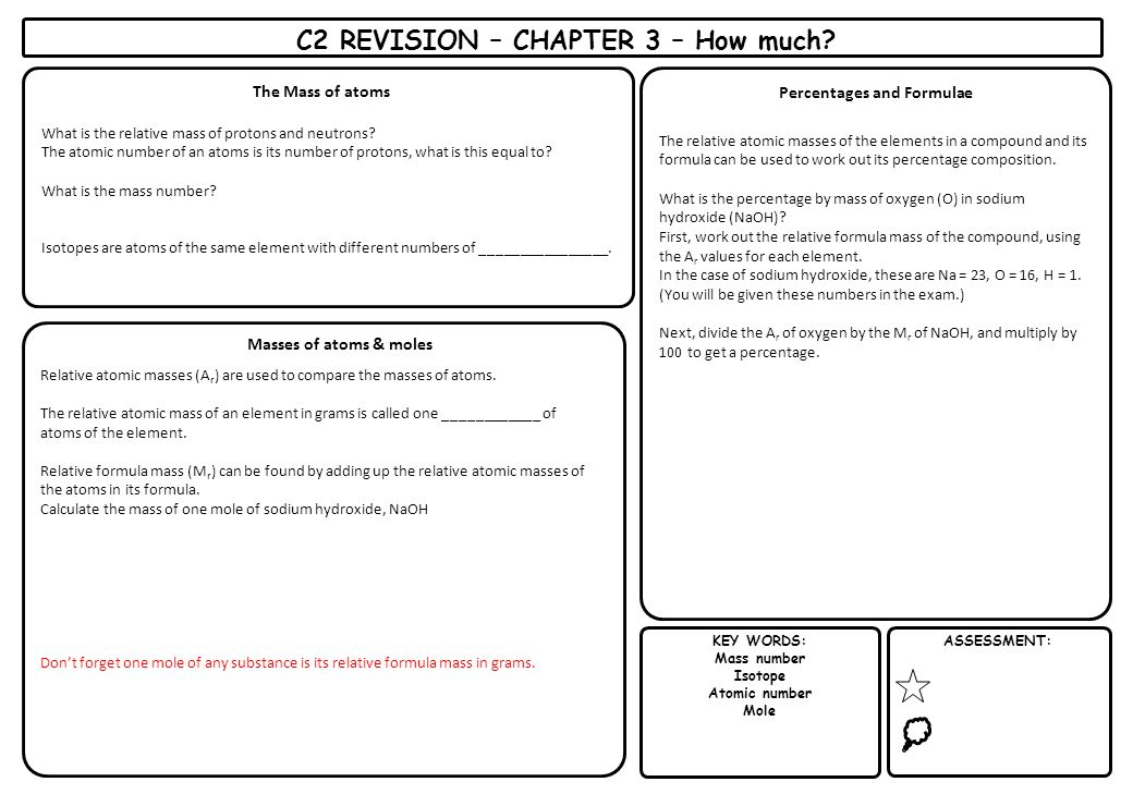 C2 REVISION – CHAPTER 3 – How much Percentages and Formulae