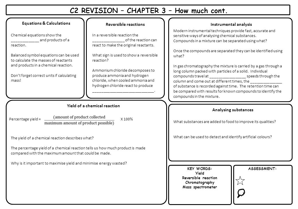 C2 REVISION – CHAPTER 3 – How much cont.