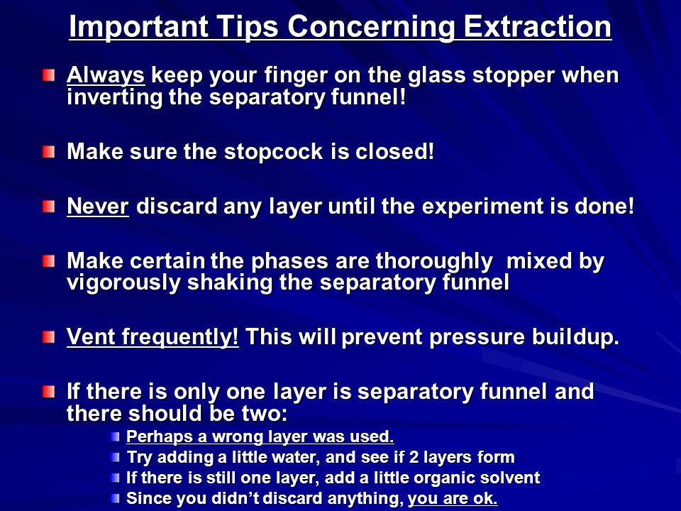 Important Tips Concerning Extraction